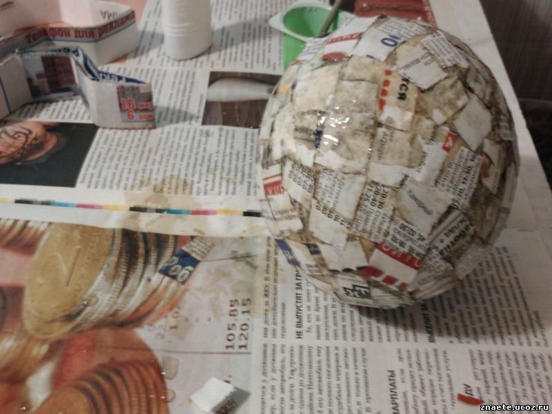 Как сделать глобус из бумаги