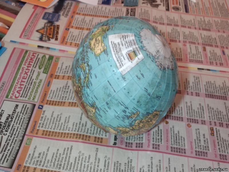 Как сделать шар для глобуса
